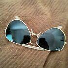 CLEARANCE# ~ AVIATOR ~ RAY-BAN/B&L  ~ 58mm lens' ~ GOLD ~NY, USA made!