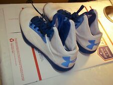 Under Armor  Men's Basketball Shoes  SZ 9 Sneaker Blue and White
