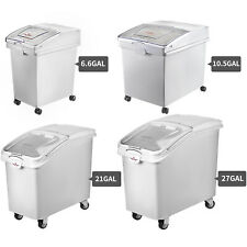 More details for vevor ingredient storage bins on wheels food rice flour container with lid