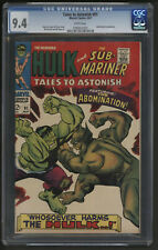 Tales to Astonish 91 Comic CGC NM Third highest White pages Vs Abomination