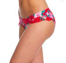 82f8721d2c1 Betsey Johnson Red Rose Fantasy Hipster Bikini Bottom 8 medium