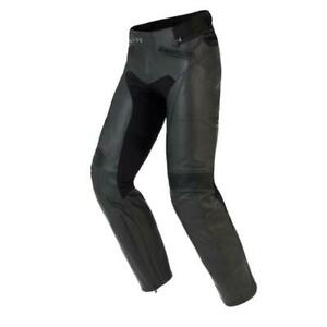 Men's Motorcycle Racing Leather Black Pants With CE Armor