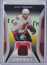 ALEX TANGUAY CALGARY FLAMES 2006-07 UD SP GAME USED AUTHENTIC FABRICS #AF-AT