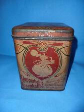 Blechdose Dose Kaffee Klepperbein´s Rosenkaffee Jugendstil Dresden 17cm tin