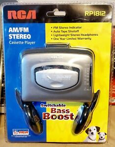 RCA AM/FM Stereo Cassette Player RP1812 Switchable Bass Boost