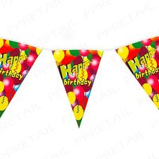 HAPPY BIRTHDAY Bunting BANNER 6M Long Large Party Flags Celebration Wall Garland