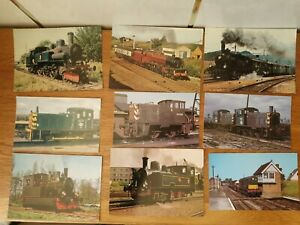 9 x Old Train Postcards. Unposted.