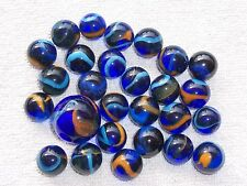 Vintage Lot of Marbles Dragonflies Blue Orange multi color
