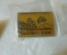 Lot Of 4 Elks Pins Santa Maria #1538