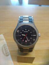 Fossil Uhr Herren, JR9750, selten, neue Batterie, neue Box, Leder Edelstahl