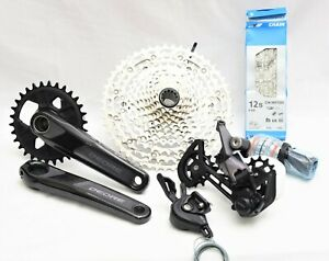 NEW 2021 Shimano Deore 12-Speed Group/Build Kit, 170mm, 10-51T Cassette, BSA BB