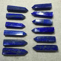 6-7cm Natural Blue Rock Lapis Lazuli Quartz Crystal Stone Point Healing Wand