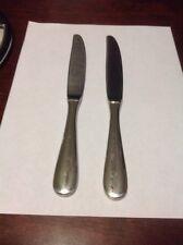 Wallace Wilshire Hotel Luxe Dinner Knife Lot Of 2 Heavy Duty Stainless Steel