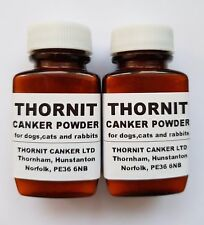 2 X 20g Thornit Canker Powder - Ear Mites Treatment for Dogs Cats & Rabbits