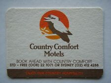 COUNTRY COMFORT MOTELS STD FREE 008 221071 SYDNEY 02 4124288 LOCATIONS COASTER