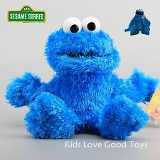 New Cute Sesame Street Plush Cookie Monster Hand Puppet Play Games Doll Toy Blue