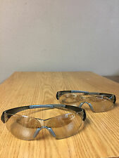 2 PAIR CHECKMATE I/O CLEAR MIRROR SAFETY GLASSES