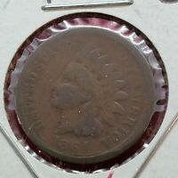 1864 L Indian Head Copper Bronze Cent Penny Coin Choice AG Full Date About Good