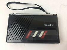 WESTCLOX Radio Clock Cordless 47530 AM/FM Travel Alarm Wristband Tested &Working