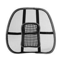 Black Mesh Lumbar Back Brace Support Office Home Car Seat Chair Cushion X4H2