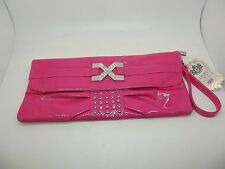 NEW LYDC ROSE PINK PATENT CLUTCH / OCCASION BAG NWT WEDDING PARTY RACES L239