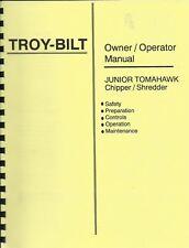 Troy Bilt Junior Tomahawk Chipper/Shredder Owners Manual