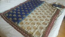 Bollywood Asian Indian saree with tailored made blouse XL size 18