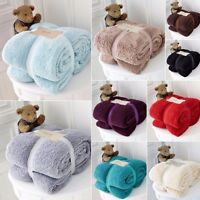 Fleece Blanket Throws Teddy Bear Super Soft Sofa Beds Cuddly Thick Warm 4 Sizes