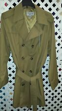 London Fog SignatureTrench Coat Khaki (LF91023) Size 44L
