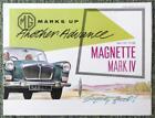 MG MAGNETTE MARK IV CAR SALES BROCHURE 1960/61 REF- 61105