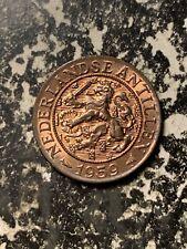 1959 Netherlands Antilles 1 Cent Lot#L9040 High Grade! Beautiful!