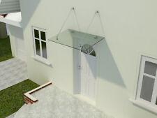 Glasvordach Türvordach Vordach Türdach Haustür Edelstahl VSG 5 - Modelle