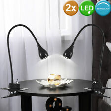 LED Schreib Tisch Klemm Leuchte bunt Lese Beleuchtung Flexo Strahler Büro Lampe
