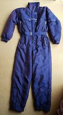 Vintage womens Ski Suit Tresspass Purple Full length Size M Medium 1990 90s r5P