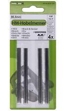 4x HM Hobelmesser 80,5mm für Hobel AEG ATLAS COPCO 450 / DEWALT DW676K / B38