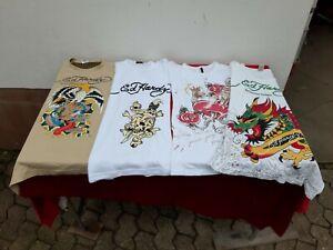 4 x Ed Hardy by Christian Audigier Herren Damen T-Shirt Designer Luxus Shirt
