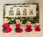 Vintage Set of 4 Christmas Noel Angel Bells - Japan Ornaments w/box  Napco?