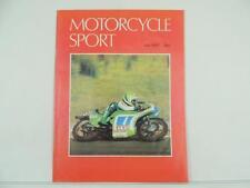 Vintage July 1979 MOTORCYCLE SPORT Magazine Moto Guzzi V50 Kawasaki Honda L5150