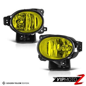 For 07-08 Acura TL JDM Golden Hyper Yellow Fog Light Bumper Lamp Left+Right Set