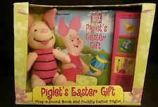 Disney Easter Winnie The Pooh Piglet's Easter Gift Sound Book and Plush 2002 NEW