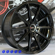 XXR 568 Wheels Black 18x8.5 +38 Rims 5x114.3 fits Infiniti G35 G37 Q50 Q60 Sedan