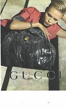 PUBLICITE ADVERTISING 2011  GUCCI  maroquinerie sacs bagages besace