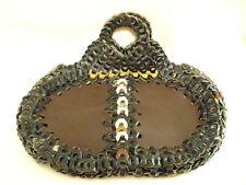 MOD Vintage Hippie BOHO Leather Chain Look Purse Excellent Craftsmanship