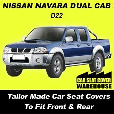 Car Seat Covers To Fit NISSAN NAVARA DUAL CAB D22 Front & Rear 1997-05/2015