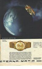 PUBLICITE ADVERTISING 1964   ETERNA MATIC 3000 la montre encore plus plate