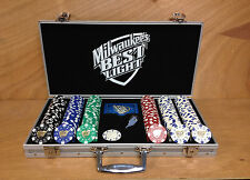 Milwaukee's Best Light Casino Gambling Aluminum Case Color Chips Dice Suited F/S