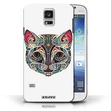 Stuff4 Hülle/Case für Samsung Galaxy S5/SV/Katze/Deko-Tiere