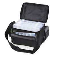 Angelgerät Tasche Pack Schulter Taille Taschen + Angeln Locken Lagerung Box Z7K1