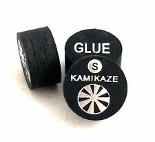 Kamikaze Black Layered Cue Tips  14 MM ( SOFT) (5 Tips)  Fast Shipping....