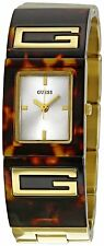 BRAND NEW GUESS W12107L1 FLAIR GOLD STAINLESS STEEL & TORTOISE WOMEN'S WATCH
